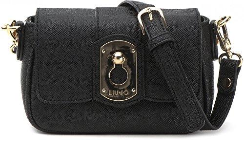 LIU JO, borsa da donna, Borsetta, Borsa da sera, Borsa a tracolla, Nero, 22 x 15 x 4cm (LxHxP)