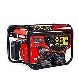 エンジン発電機 (レッド) 最大3.5kVA 7.5馬力 200V100V同時切替出力 単相発電機