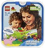 LEGO Duplo Learning Play 6759 Una Vivace Fattoria - Juego de construcción y libro (contenido en italiano)