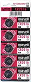 Maxell Micro Lithium Cell Battery CR2016 for Watches and Electronics (5 Pack)