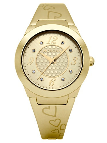 Morgan Analog Gold Dial Women's Watch - M1099G (yellow)