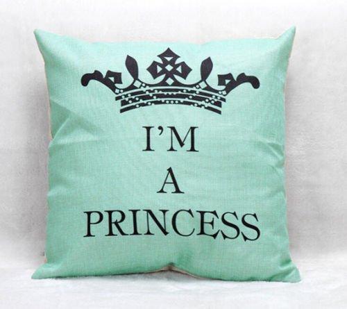 [Princess 18'' Home Decor Cotton Linen Throw Pillow Case Romantic Sofa Waist Cushion Cover] (White Trash Costume Ideas Pictures)