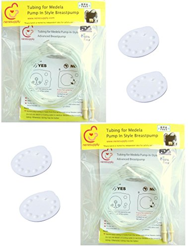 Tubing (2 Packs, 4 Tubes) and 4 Membranes for Medela Pump In Style Advanced Breast Pump Released After Jul 2006. In Retail Pack. Replace Medela Tubing, and Medela Membrane.