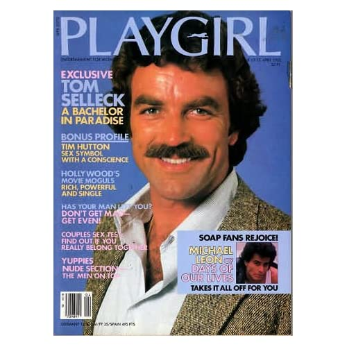 Playgirl Magazine Issue Dated April Tom Selleck Tim Hutton