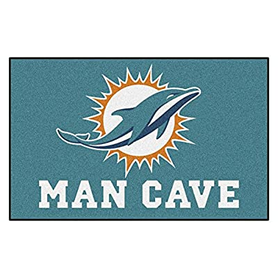 FANMATS 14326 NFL Miami Dolphins Nylon Universal Man Cave UltiMat Rug
