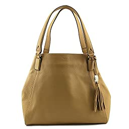 Vince Camuto Alesi Tote Women Tan Shoulder Bag NWT