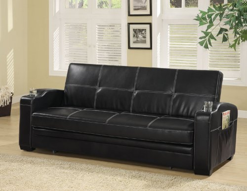 black-leatherette-futon-300132-coaster-furniture