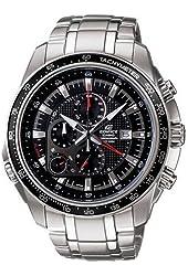 Casio Men's Stainless Steel Edifice Black Dial Alarm Chronograph Tachymeter Ef-545d-1avdf
