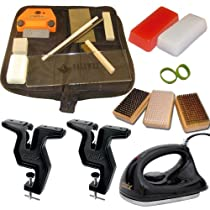 Super Deluxe Dual Snowboard Ski Everything Kit Vise Iron Tools Wax