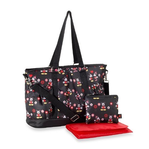 Disney Minnie Mouse Deluxe Ripstop Diaper Bag Tote - 1