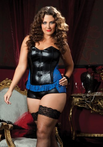 Blue Royale Bustier And Boyshort (Non-Packaged)