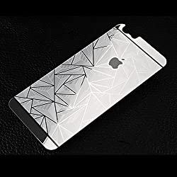 Kapa 3D Diamond Pattern Mirror Front + Back Tempered Glass Screen Protector for Apple iPhone 5 5S - Silver