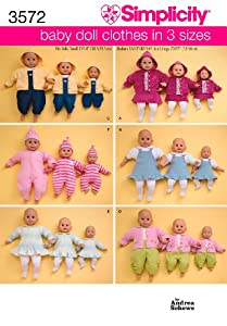 Simplicity Sewing Pattern 3572 Doll Clothes, A (S-M-L)