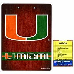 NCAA Miami Hurricanes Clip Board