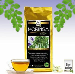 Moringa Tea - Pure Moringa Oleifera, 50 Tea Bags, Enjoy Benefits of Moringa Powder in a Tea