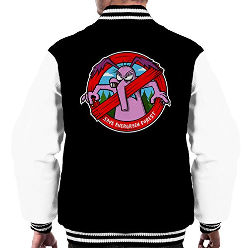 save-the-evergreen-forest-cyril-sneer-the-raccoons-mens-varsity-jacket
