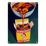 ROWNTREE'S FRUIT GUMS METAL STEEL ADVERTISING WALL SIGN
