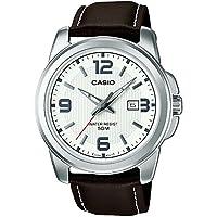 Casio MTP-1314PL-7AVEF - Reloj de pulsera hombre, piel, color marrón de Casio