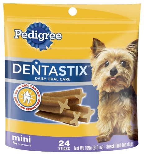Pedigree Dentastix Daily Oral Care Mini Snack Food for Toy/Small Dogs, 6-Ounce Pouches (Pack of 12)