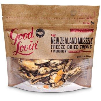 Good Lovin' Raw New Zealand Mussels Freeze-Dried Dog Treats 2.5 oz.