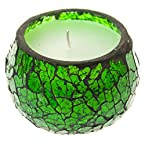 Small Green Mosaic Wax Votive