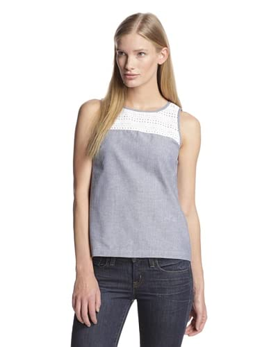 French Connection Women's Fast Lois Chambray Top