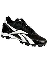 Reebok J16206 VERO IV MID MRT Mens Baseball Cleats Black/White 16 M