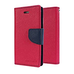 Micomy Goospery Fancy Diary Wallet Case for Samsung Galaxy On7 -Hot Pink