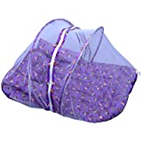 Jack & Jill Baby Mosquito Net Bedding Set Baby Bed Baby Mattress With Zip Purple - M