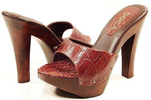d8dae7e1e5068d Buy Cheap Soca Shoes Women s Gina Brown High Heel Platform Slide Sandals  Shopping