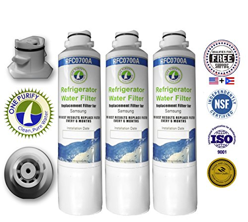 3 Pack - Onepurify Water Filter To Replace Samsung, Kenmore, Sears, Da29-00020A, Da29-00020B, Da2900020A, Da2900020B, Da-97-08006A, Da-97-08006A-B, Da-97-08006B, Da2900019A, Da97-08006A-B, Da29-00019A, Haf-Cin, Haf-Cin-Exp, Haf-Cinexp, Hafcin, 9101, 46-91 front-573252