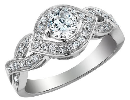 White Gold 4/5 ctw Diamond Infinity Engagement Ring