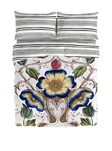 Victorio & Lucchino Petunia - Set copripiumino letto 150 (240 x 220cm + 2/45 x 90cm) Blanco/Multicolor