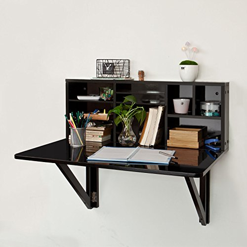 excellent sobuy fwtsch table murale rabattable avec tagre. Black Bedroom Furniture Sets. Home Design Ideas