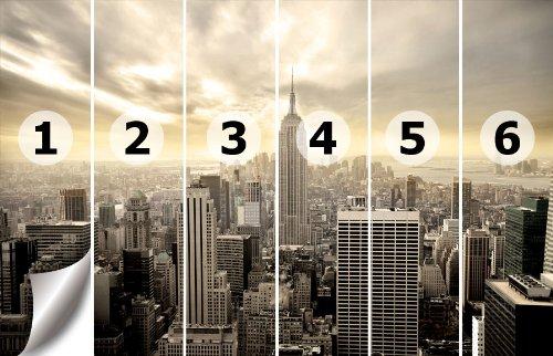 Fototapeten Richtig Anbringen : New York Skyline View Wallpaper 420cm x 270cm British Shop Angielski