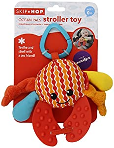 Skip Hop Ocean Pals Stroller Toy, Crab