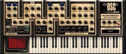 GForce impOSCar Vintage Analog Synthesizer Virtual Instrument