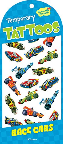 Peaceable Kingdom / Race Cars Temporary Tattoos front-795171
