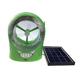 Solar Fan 888R LED Light + Mini Fan+ USB/SDSPEAEKR+FM Radio with Solar Panel