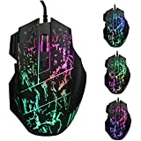 JideTech® Wired Gaming Mouse 5500 DPI 7 Button LED Optical USB Professional Gamer Mice For Laptops Desktops