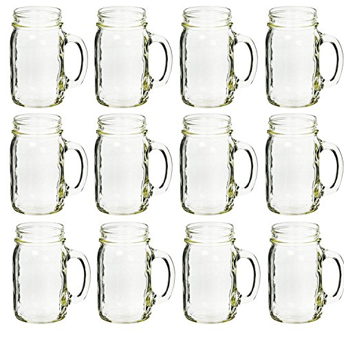 Ball 40014 plain drinking mugs, box of 12 , 16 oz each (Ball Jar Plastic Cups compare prices)