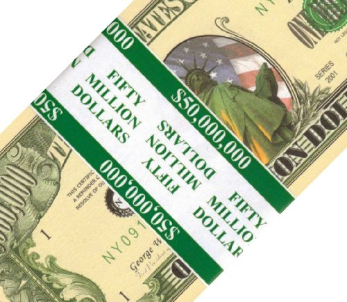 50 count Banded Lady Libery Million Dollar Bills