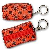 3D Lenticular Key Chain, Key Ring, Lipstick Case, Coin Purse, Changing Image Pattern ,Red, Orange, Moving Black Wheels, R-008R-Globi