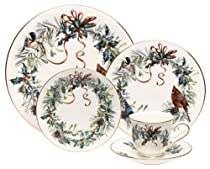 Hot Sale Lenox Winter Greetings 20-Piece Gold-Banded China Dinnerware Set, Service for 4