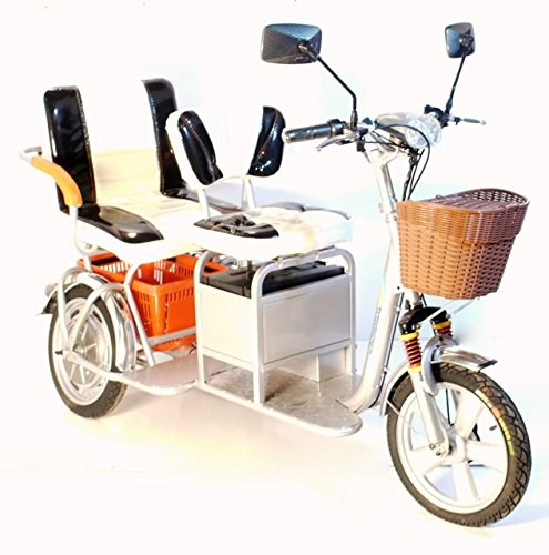 Boomer Silver Two Seater Mobility Scooter