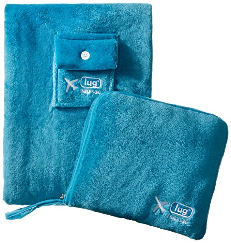 Lug Nap Sac Blanket And Pillow Teal Ocean Blue One Size