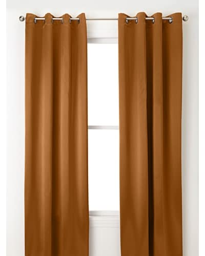 Jennifer Taylor Home Collection Set of 2 Pierre Curtain Panels, Light Brown