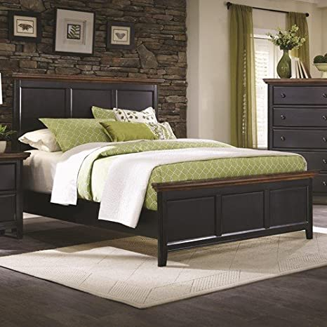 Coaster Home Furnishings 203191Q Rustic Queen Bed, Medium Oak and Black