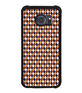 Fuson Premium 2D Back Case Cover Pattern Triangles With Orange Background Degined For Samsung Galaxy S6::Samsung Galaxy S6 G920