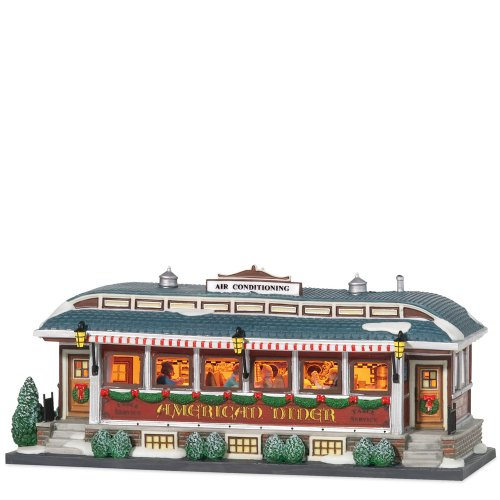 Department 56 christmas in the city american diner home for Diner home decor